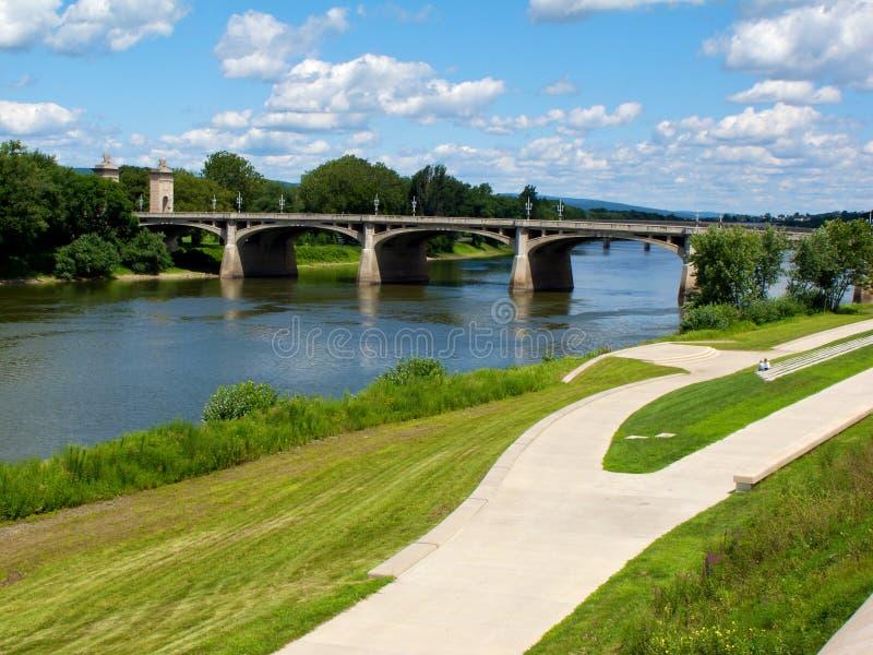 Susquehanna cénico Riverwalk imagens de stock royalty free
