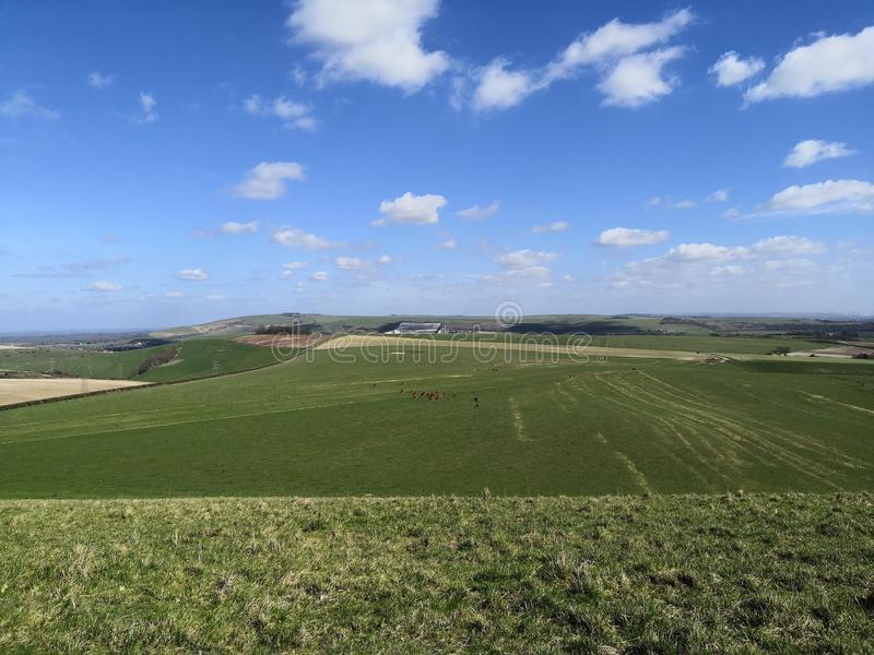 Sussex downs view East towards lewes royalty free stock photography