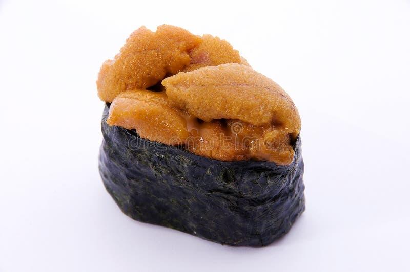 Sussi avec le caviar des poissons de vol image libre de droits