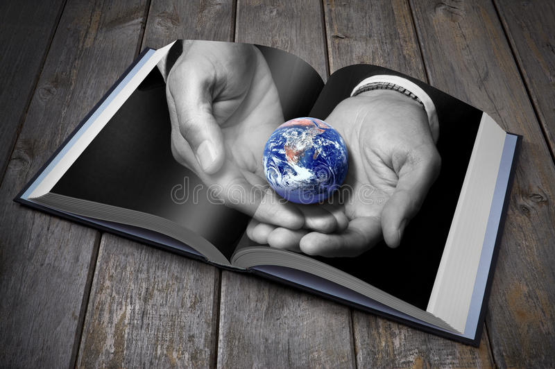 Download Sustainability Earth Book Climate Change Stock Photos - Image: 27830073