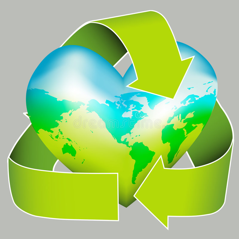 Sustainable Earth Day Icon royalty free illustration