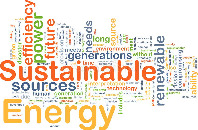 Sustainable energy background concept royalty free illustration