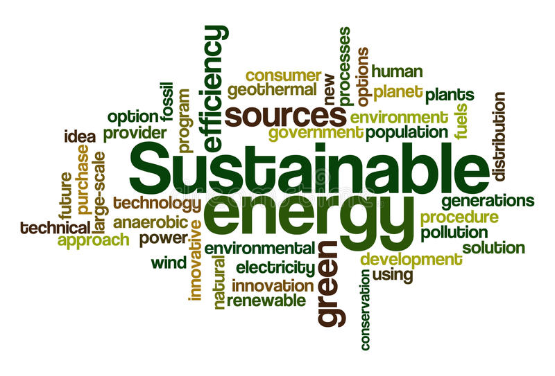 Download Sustainable Energy - Word Cloud Royalty Free Stock Photo - Image: 14435185