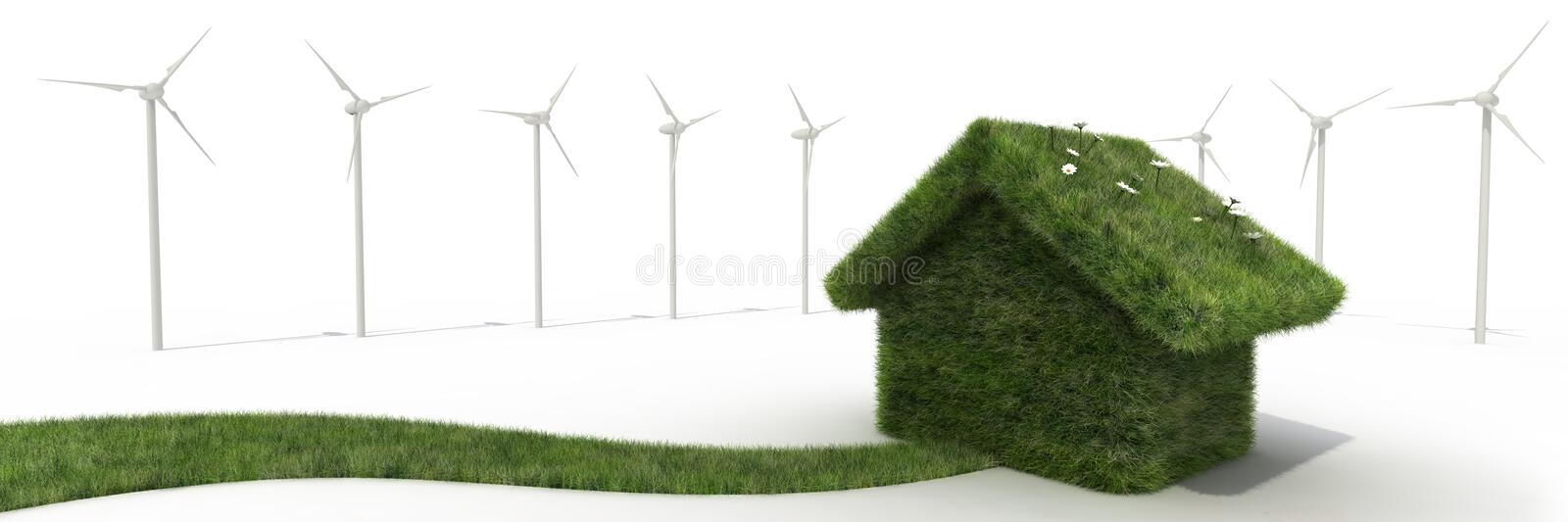 Download Sustainable house stock illustration. Illustration of business - 13235506