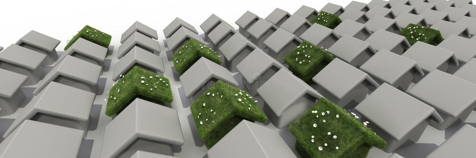 Download Sustainable house stock illustration. Image of design - 14825163