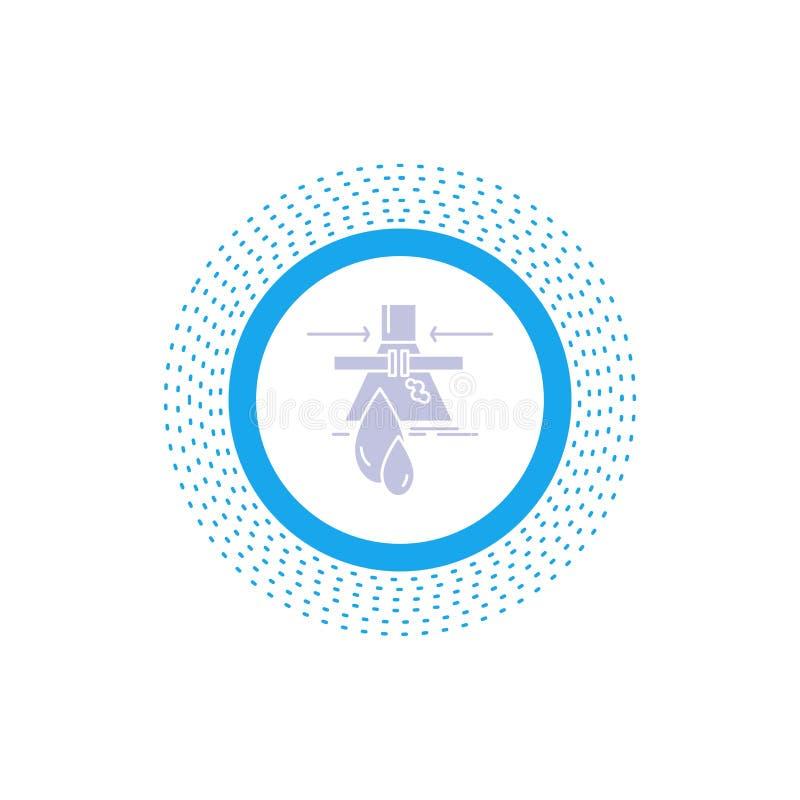 Sustancia qu?mica, escape, detecci?n, f?brica, icono del Glyph de la contaminaci?n Ejemplo aislado vector ilustración del vector