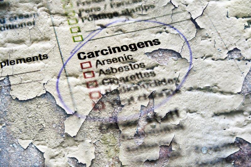 Sustancias de los agentes carcinógenos foto de archivo