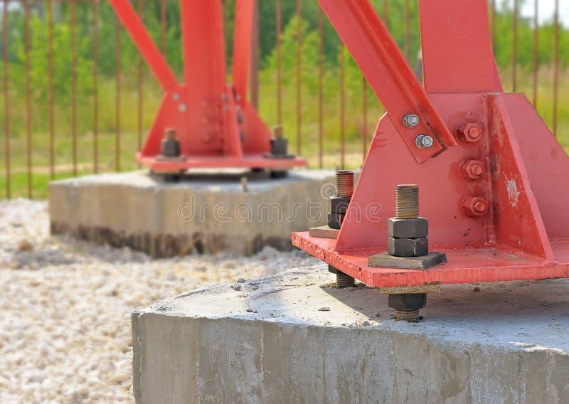 Sustentação de aço. imagens de stock
