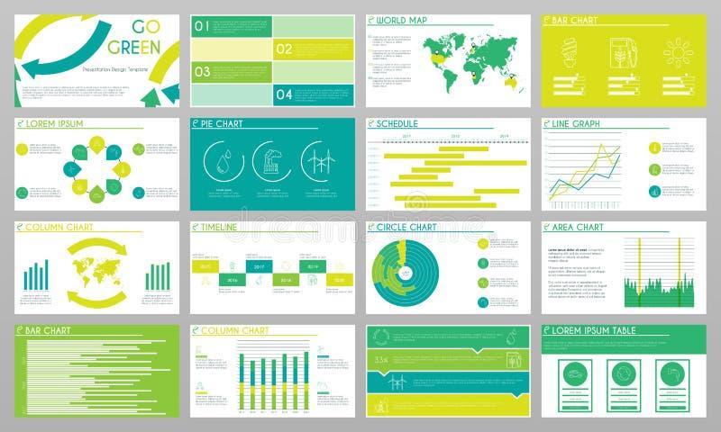 Sustente o molde do projeto da apresentação da energia ilustração stock