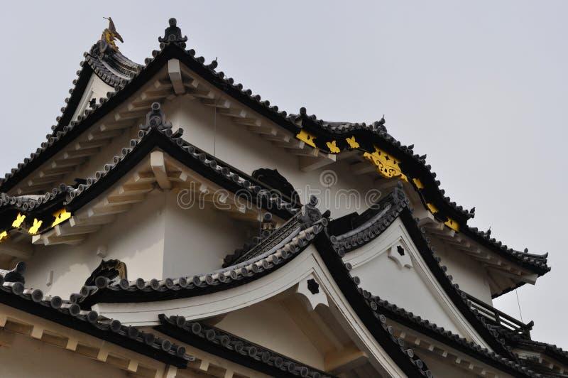 Sustento do castelo de Hikone (Hikone Jo) imagem de stock