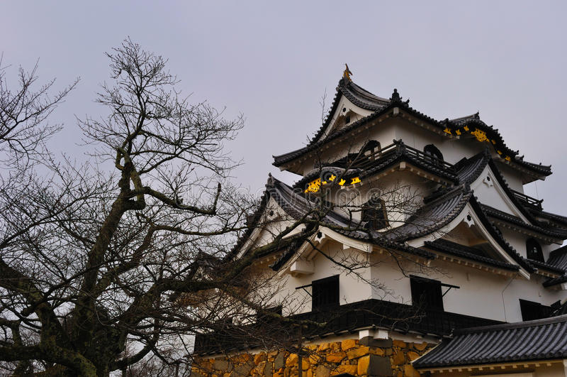 Sustento do castelo de Hikone (Hikone Jo) imagens de stock royalty free