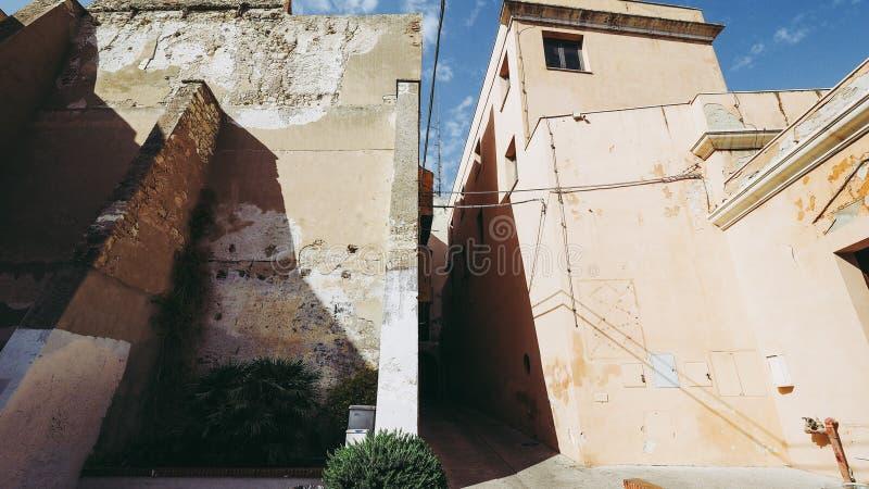 Susu van akacasteddu e van het Castellokwart in Cagliari, Italië royalty-vrije stock afbeelding