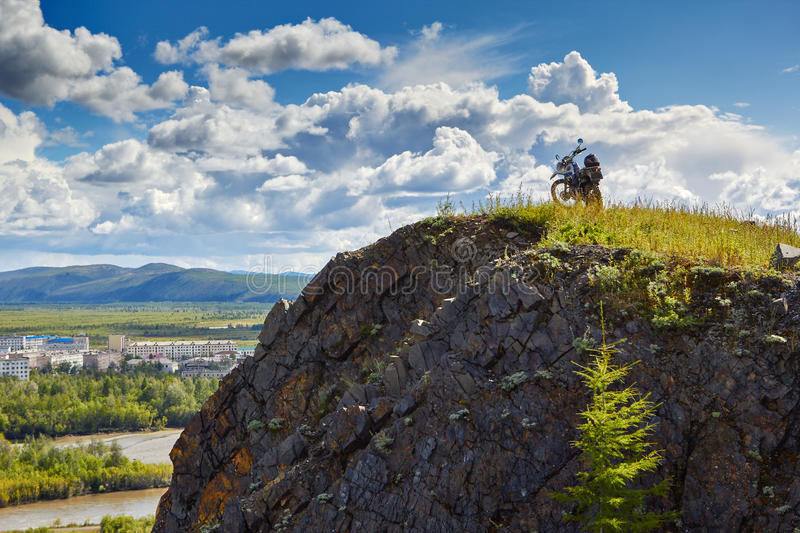 Download Susuman-Enduro. A Motorcycle On The Brink Of Breakage Stock Photo - Image: 62569190