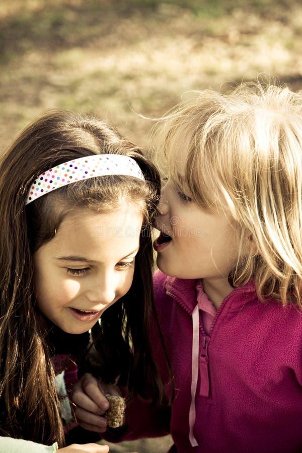 Susurro de las muchachas foto de archivo