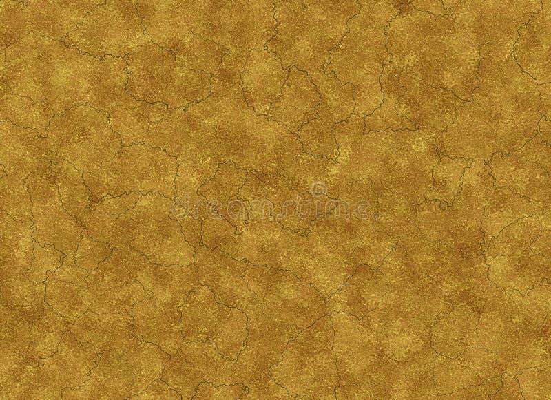 Suszę pękał ziemi teksturę abstrakcjonistyczny reliefowy wzór ilustracja wektor