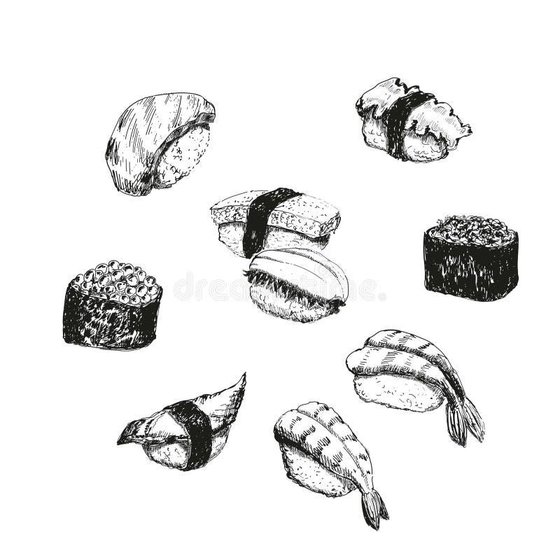 Suszi. ilustracja wektor