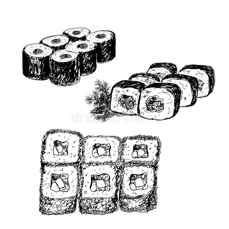 Suszi. ilustracji