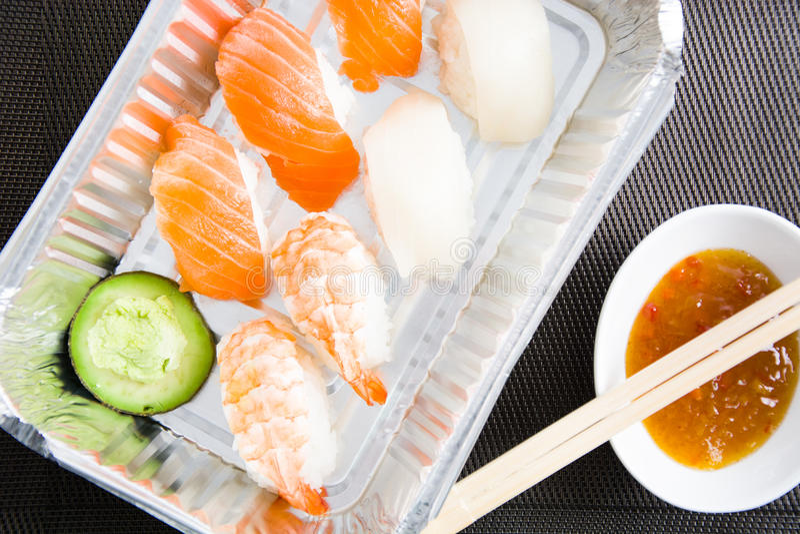 Suszi i wasabi fotografia stock