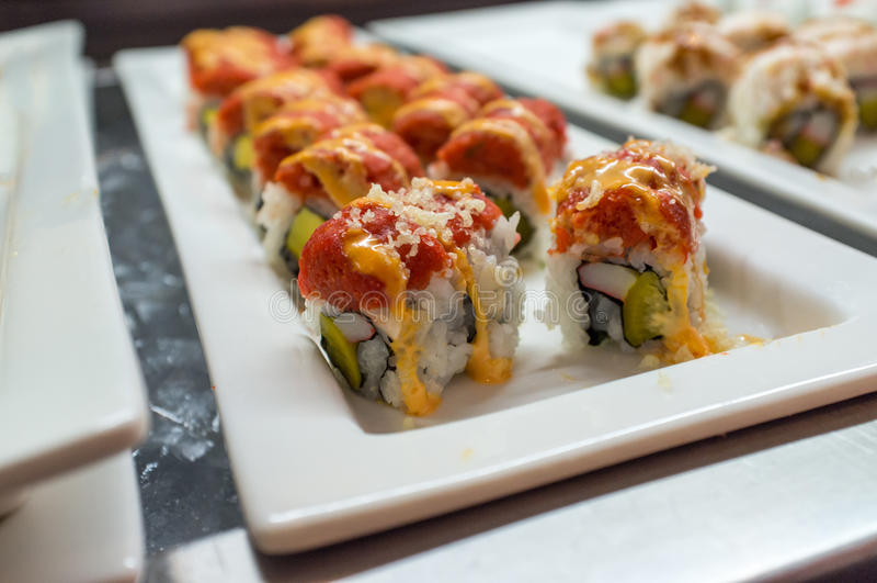 Suszi Sashimi bufet obraz stock