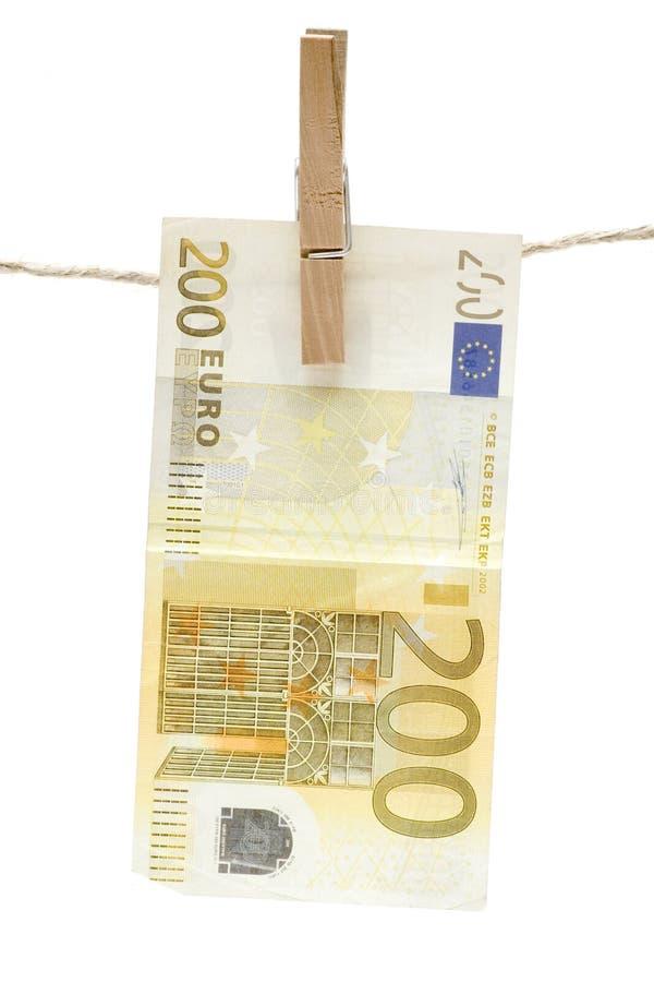 Suszyć Dwieście Euro zdjęcie stock