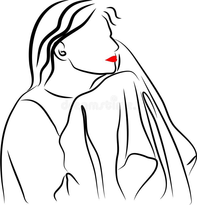 suszyć twarz ilustracja wektor