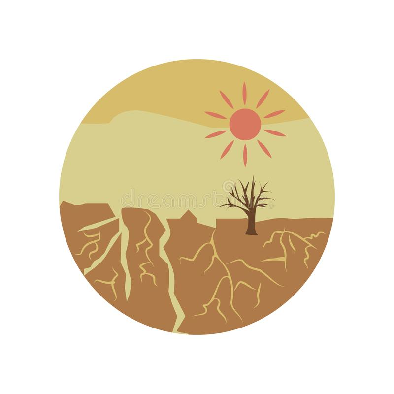 suszy katastrofy koloru ikona Element globalnego nagrzania ilustracja Premii ilości graficznego projekta ikona Znaki i symbolu co ilustracji