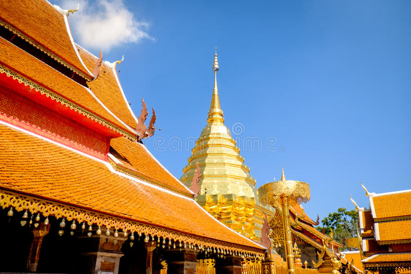 Suthep Temple in chiang mai thailand stock image