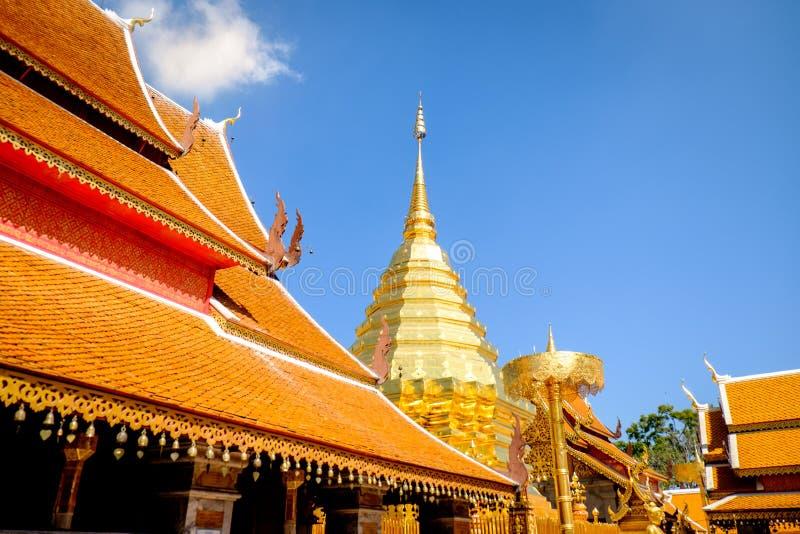 Suthep Temple in chiangmai Thailand stock afbeelding