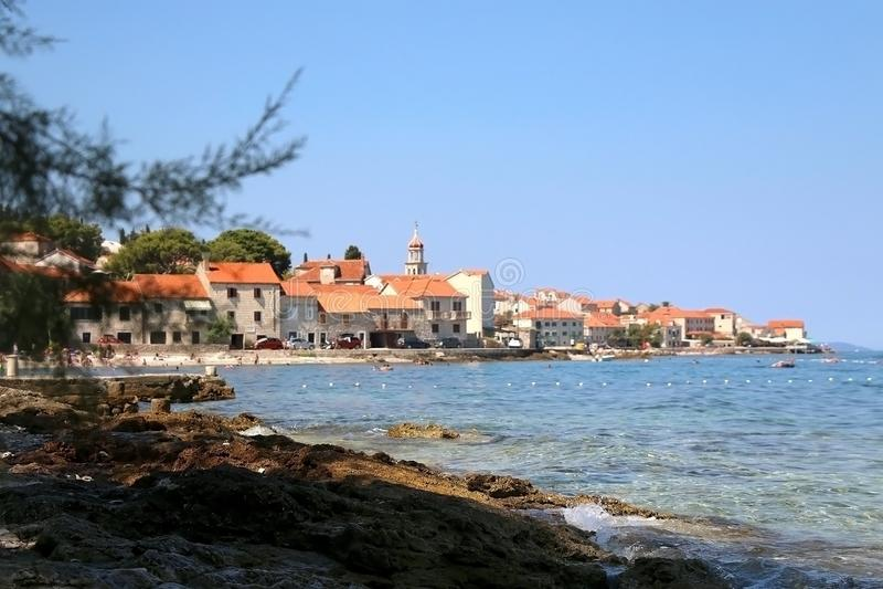 Sutivan, Croácia foto de stock