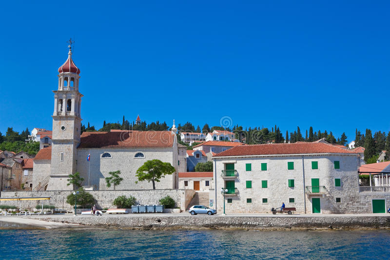 Sutivan en la isla Brac, Croatia foto de archivo libre de regalías