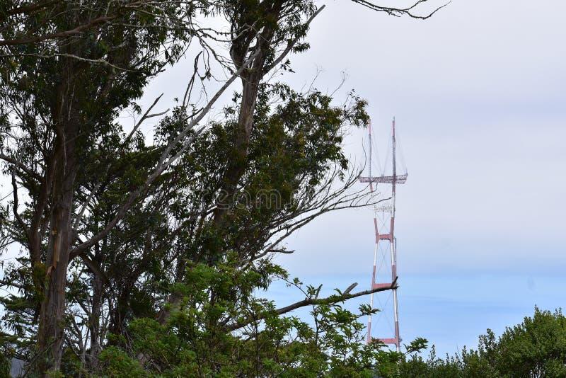 Sutro torn som sett från Mt Davidson San Francisco, 9 arkivbilder