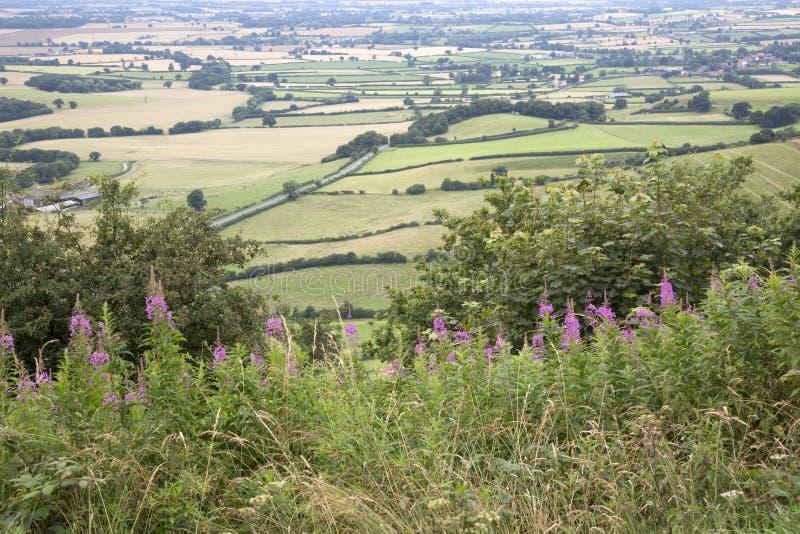 Sutton Bank Landscape, North York Moors stock photos