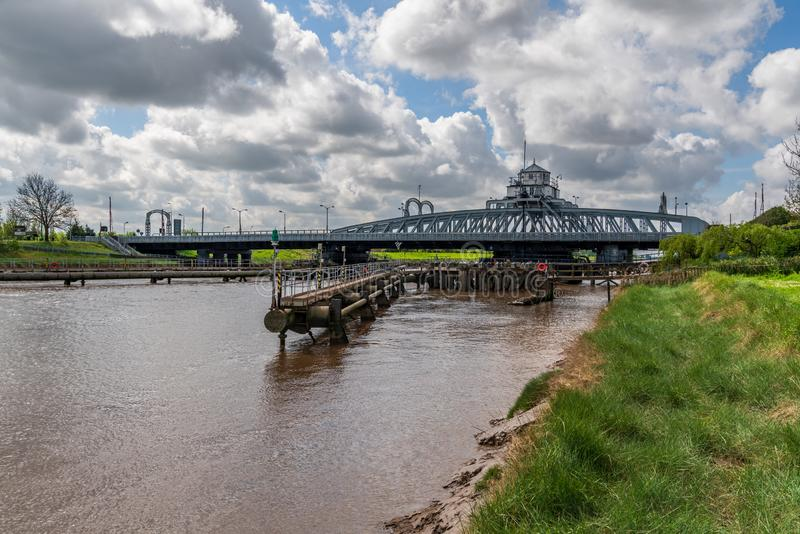 Sutton Bridge, Lincolnshire, England. Bridge over the River Nene in Sutton Bridge, Lincolnshire, England, UK stock photography
