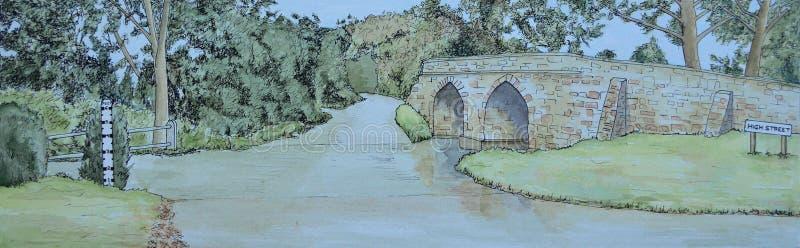 Sutton Splash and Historic Packhorse Bridge royalty free stock photos