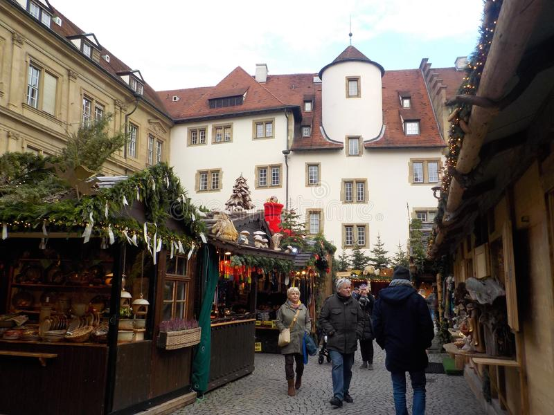 Suttrart,德国难以置信的圣诞节市场  免版税图库摄影