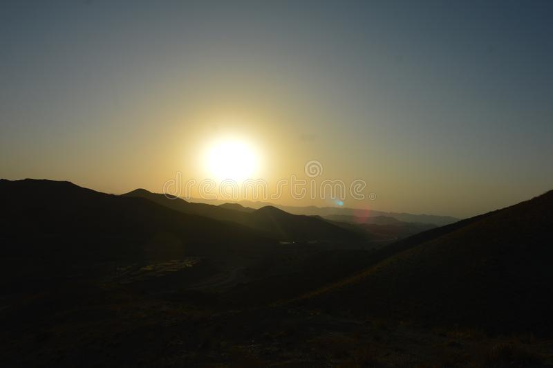 Suuny Mountains at South stock photo