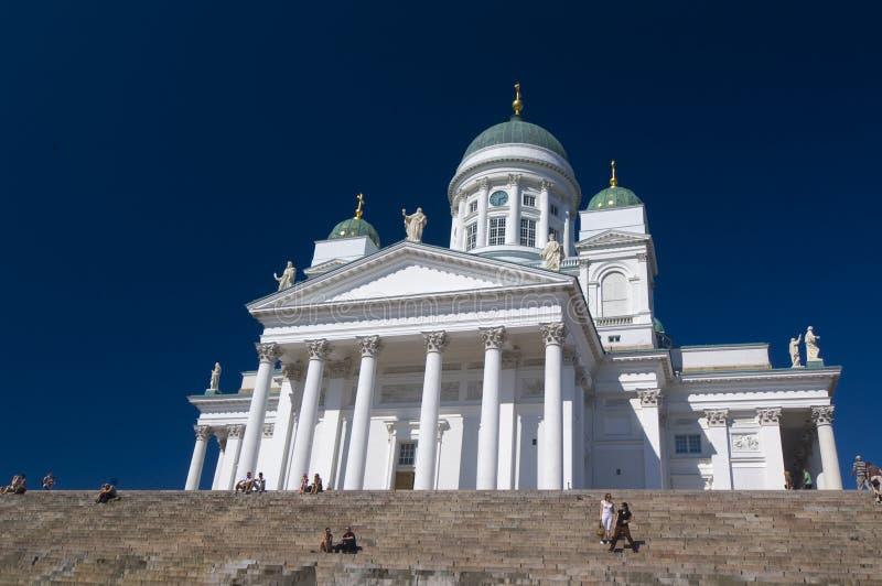Suurkirkko, catedral do Lutheran de São Nicolau imagens de stock royalty free