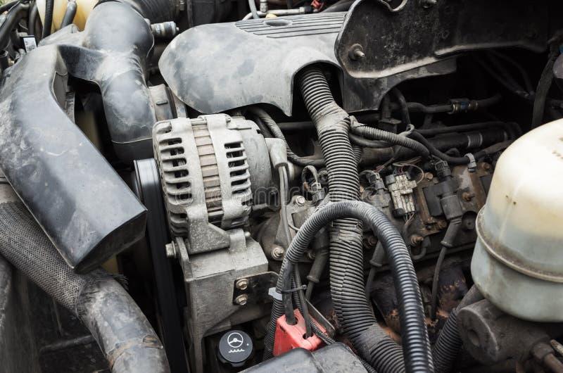 SUV,越野车发动机 免版税库存照片