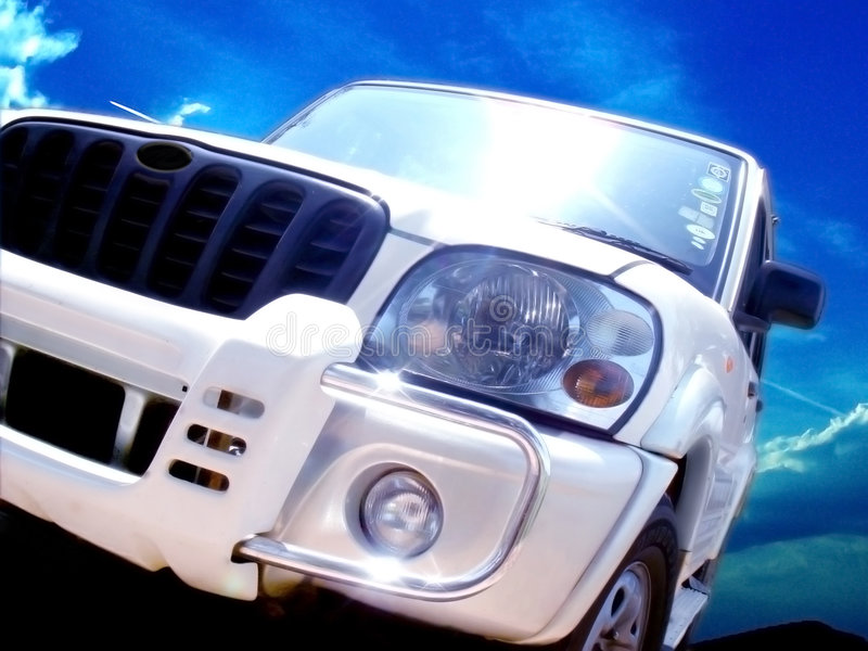 Download SUV stock image. Image of scorpio, blue, patro, headlight - 3176229