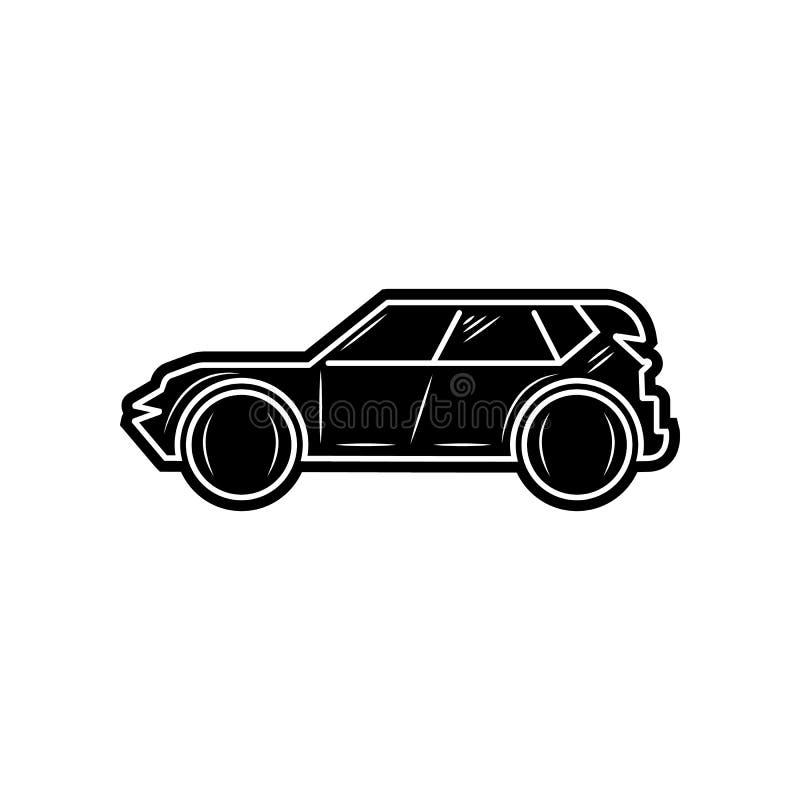 Suv-Autoikone Element von Autos f?r bewegliches Konzept und Netz Appsikone Glyph, flache Ikone f?r Websiteentwurf und Entwicklung lizenzfreie abbildung