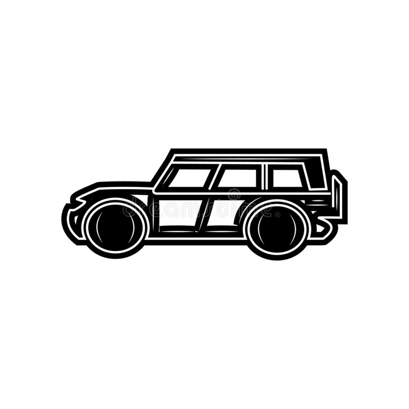 Suv-Autoikone Element von Autos f?r bewegliches Konzept und Netz Appsikone Glyph, flache Ikone f?r Websiteentwurf und Entwicklung stock abbildung