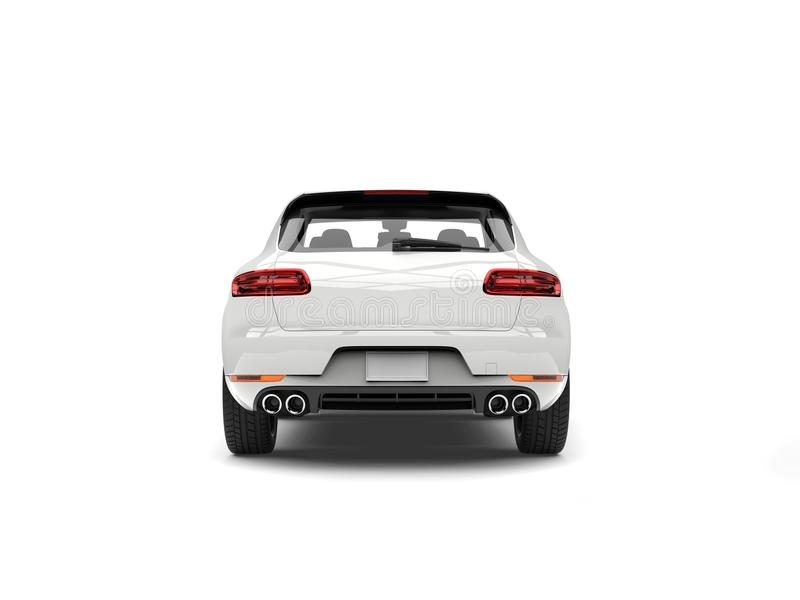 SUV branco moderno impressionante - vista traseira ilustração royalty free