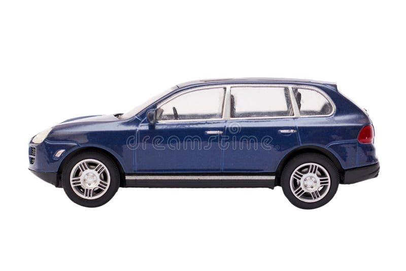 SUV campo a través azul aislado en el fondo blanco fotografía de archivo libre de regalías