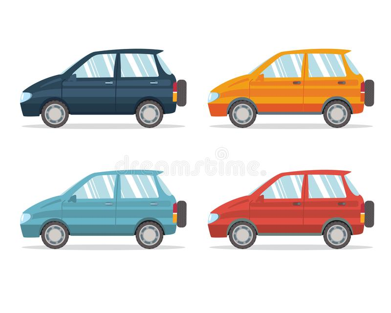 Family car simplified illustration royalty free illustration