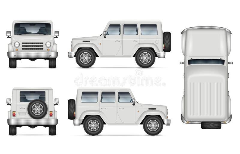 SUV car vector illustration on white background vector illustration