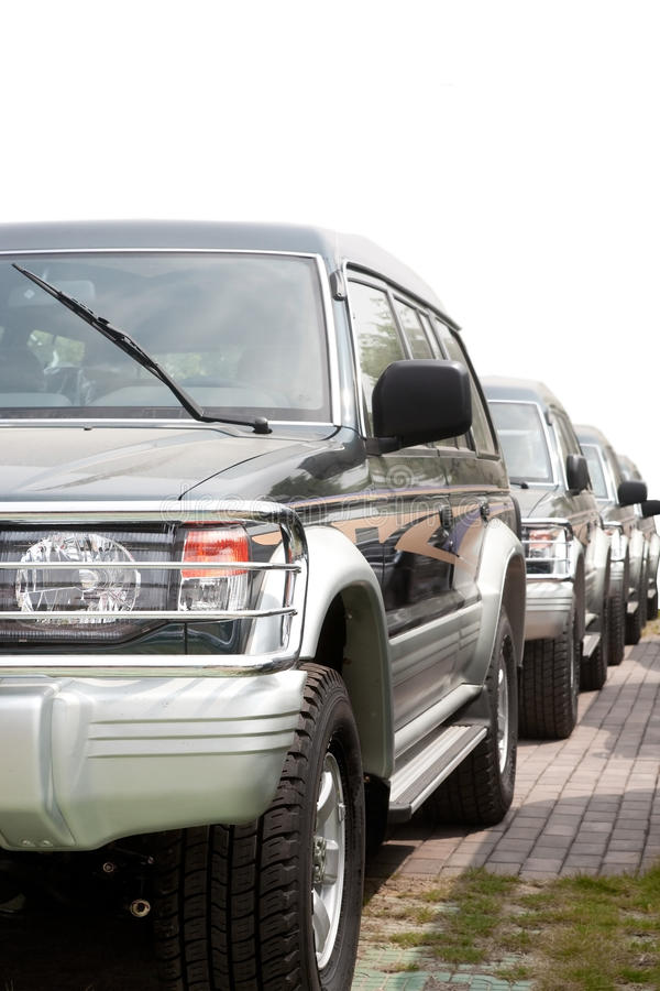 SUV cars royalty free stock images