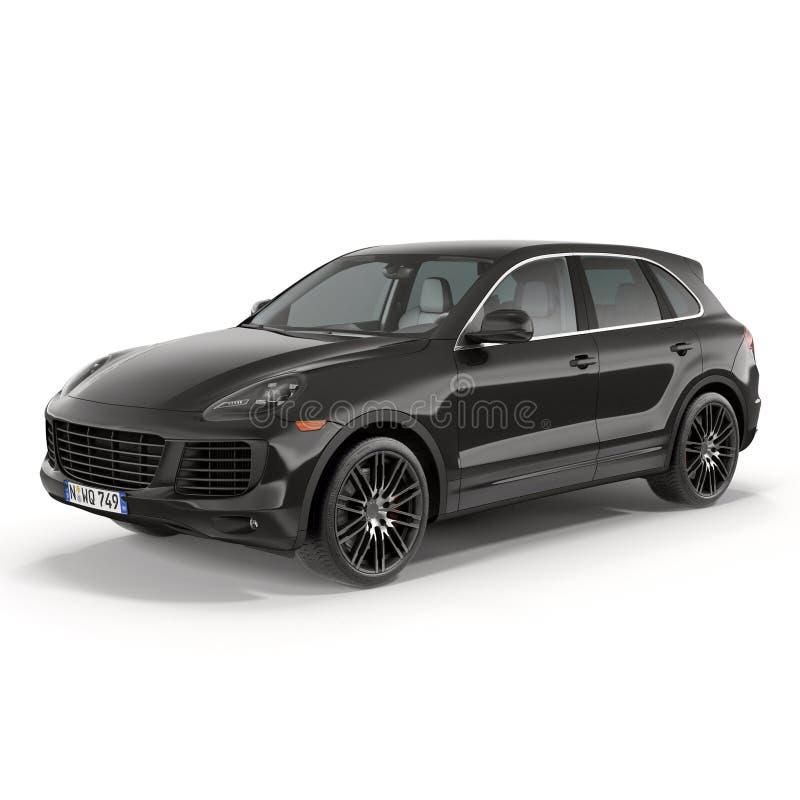 SUV de luxe d'isolement sur l'illustration 3D blanche image stock