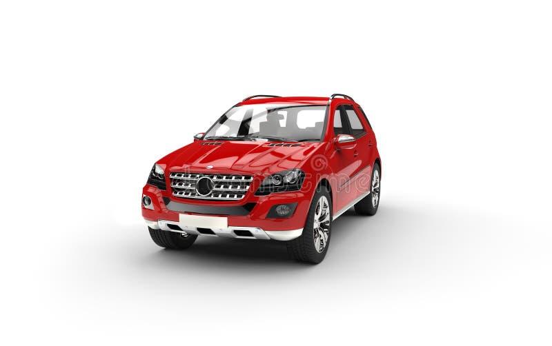 SUV de luxe rouge illustration de vecteur
