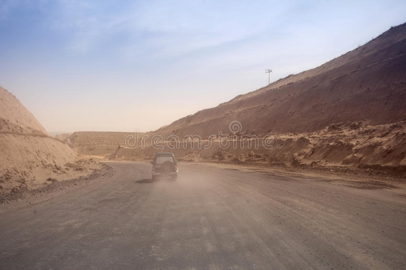 Download SUV Driving Off Road At Mining Site Stock Photo - Image: 25518090