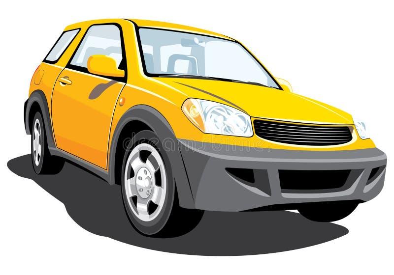 Suv giallo illustrazione vettoriale